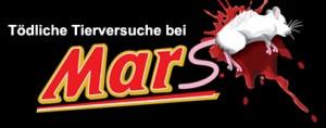 Mars unterstützt Tierversuche (Foto: www.peta.de)