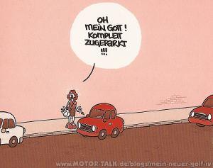 wenn Frauen einparken