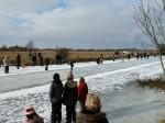 Feld der Schlittschuhläufer
