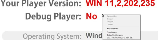 Screenshot Flyout der Adobe Seite