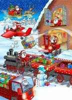 Weihnachtsmann bei der Arbeit