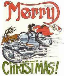 Nikolaus auf dem Motorrad