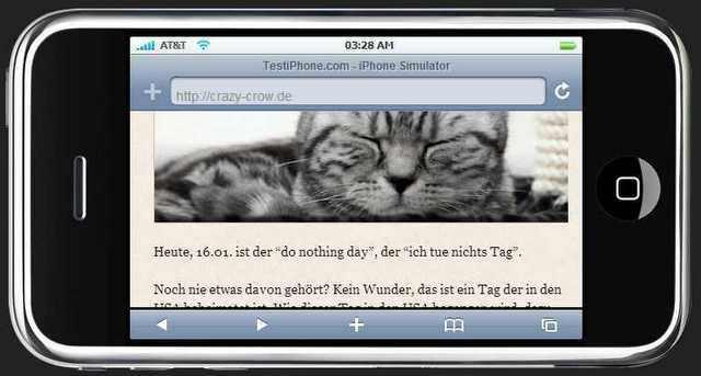 iphone - Testdarstellung