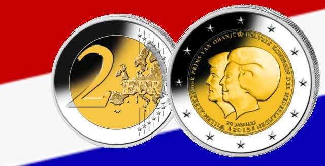 Gedenkmünze zur Thronfolge in den Niederlanden