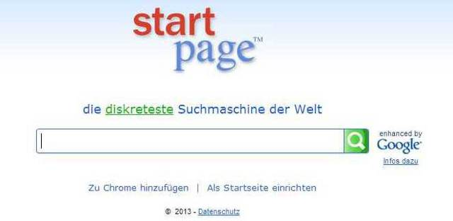 Startpage - Suchmaschine