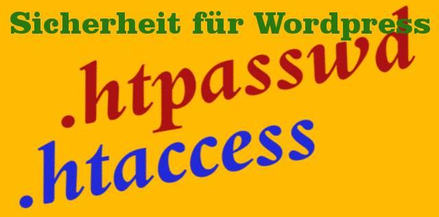 htpasswd - Sicherheit für WordPress