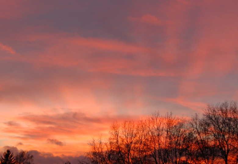Kontrastprogramm zu Sturmtief Xaver - Sonnenuntergang
