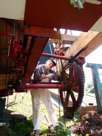 Arbeiten an der Mühle