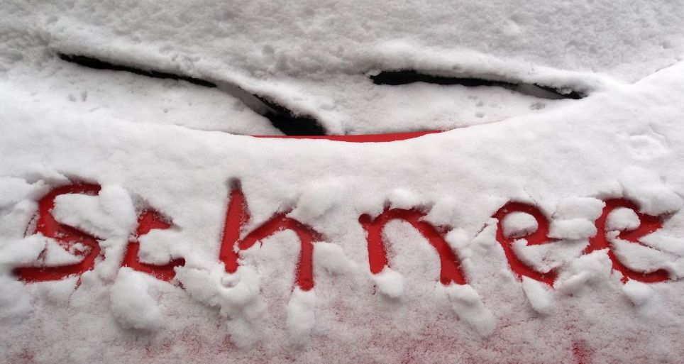 Schnee in Ostfriesland