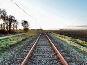 Bahngleis bei Bunde